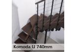 Lomené schodiště Komoda 74U