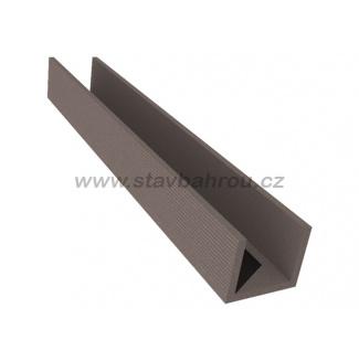 WPC Duofuse plotový profil U velký - kamenná šedá