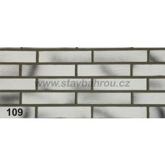 Cihelný obkladový pásek IZOFLEX, č.109 pálená bílá