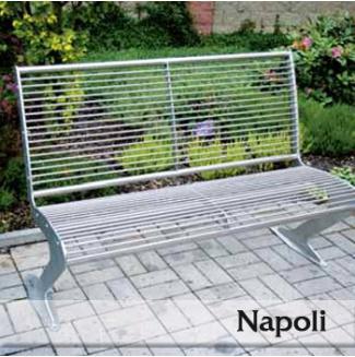 Nerezová lavička Napoli