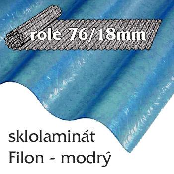 Sklolaminát Filon 76/18 modrá - vlnitá role