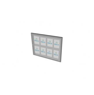 Informační vitrína interiérová 1000x700mm, 8xA4