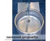 Kruhové nerezové umyvadlo