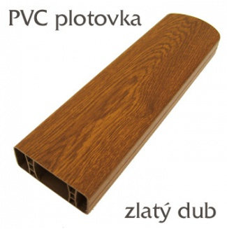 Foliovaná plotovka zlatý dub