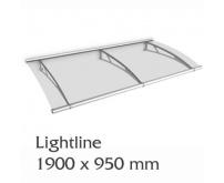 Vchodová stříška Lightline Polymer L 1900 x 950 mm