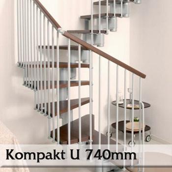 Segmentové schodiště Kompakt 74U