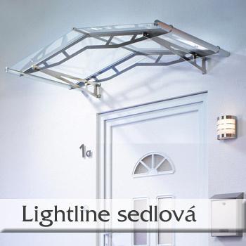 Vchodová stříška Lightline typ L - sedlová stříška