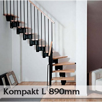 Segmentové schodiště Kompakt 89L