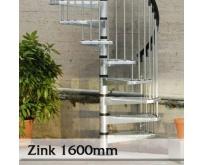 Točité venkovní  schodiště Zink 1600mm