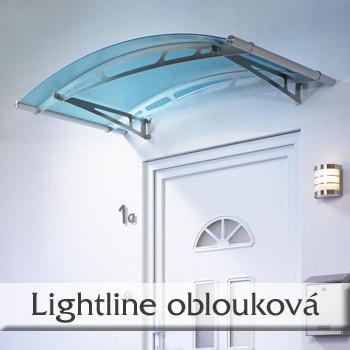 Vchodová stříška Lightline typ L - oblouková stříška