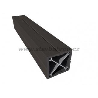 WPC Duofuse plotový sloupek - grafitová černá