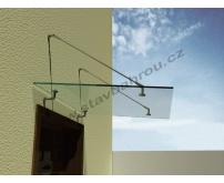 Stříška s bezpečnostním lepeným sklem  1400 x 1000 mm
