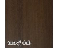 Vnitřní dřevotřískový okenní parapet TOPSET - tmavý dub