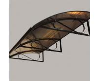 Markýza Robelit Retro 160x90cm - černá, výplň polykarbonát