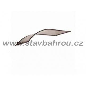 Vchodová stříška oblouková jednostranná Robelit výplň polykarbonát