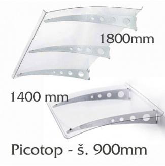 Vchodová stříška Polymer, Picotop 1400x900mm