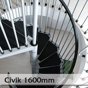 Ocelové schodiště Civik 1600mm