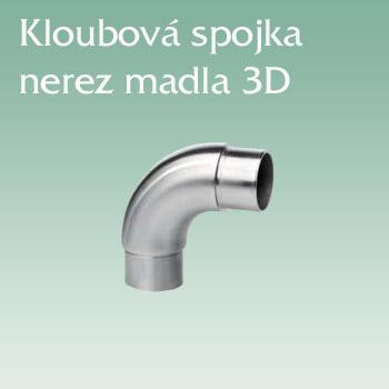 Kloubová spojka nerez madla 3D